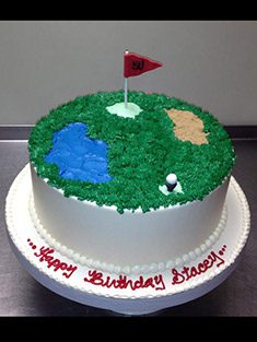 Golfer's Cake - Single Tiered - 28