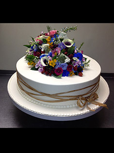 Flowers Cake - Single Tiered - 50