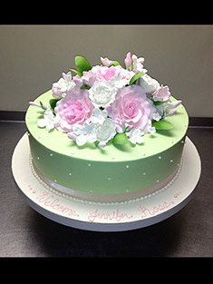 Welcome Baby Flower Cake - Single Tiered - 53