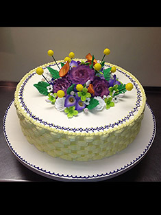 Flower Cake - Single Tiered - 55