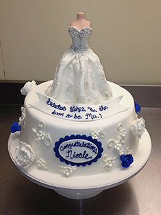 Bridal Gown Cake - Single Tiered - 56