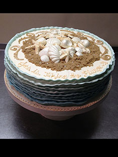 Beach Cake - Single Tiered - 66