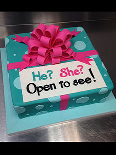 Boy or Girl Surprise Cake - Single Tiered - 68